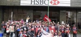 Caminhada marca lançamento da campanha   salarial dos bancários no Grande ABC
