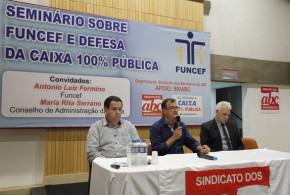 Seminário no Sindicato destaca Funcef e PLS 555
