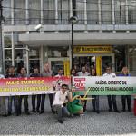 Atividade em São Caetano do Sul sobre saúde dos bancários.