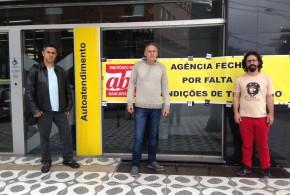 Sindicato fecha agência do Banco do Brasil de Ribeirão Pires por falta de segurança
