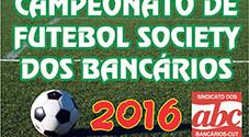 Resultados da fase eliminatória do Campeonato de Futebol Society dos Bancários 2016