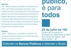 """""""Se é público, é para todos"""": Sindicato lança campanha dia 20"""