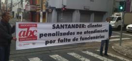 Paralisação prossegue nas agênciasdo banco Santander em Santo André