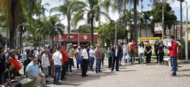 Bancários fazem protestos em três cidades do ABC
