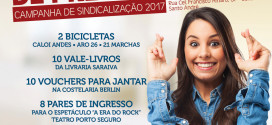 Dia 29 tem sorteio da Campanha de Sindicalização 2017