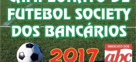 Inscrições para o Campeonato de Futebol Society 2017 são prorrogadas