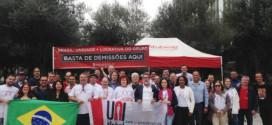 Irresponsabilidades do Santander são denunciadas em atos pelo mundo